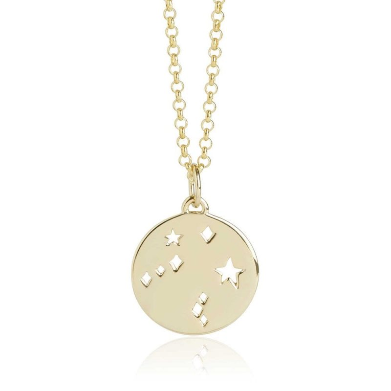 Libra Star Sign Necklace in Gold