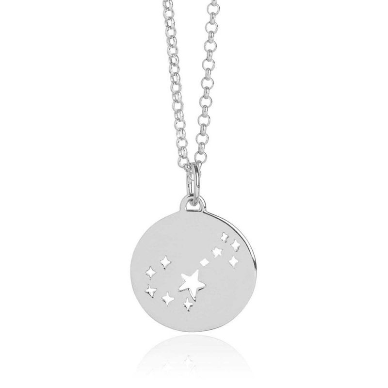 Scorpio Star Sign Necklace Silver