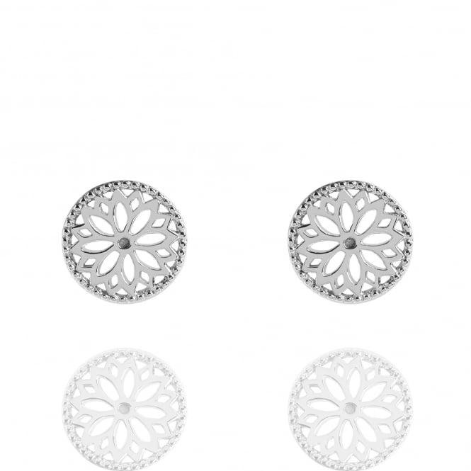 Purity Mandala Stud Earrings in Silver