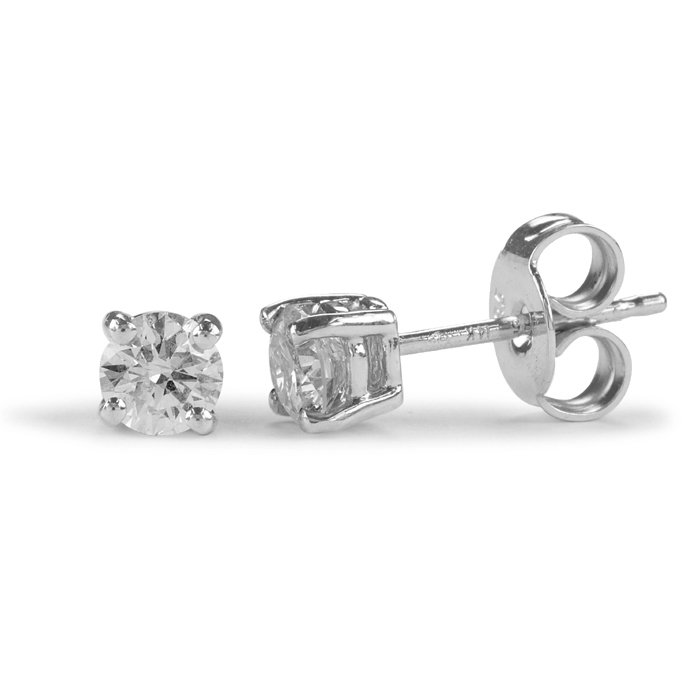 Round Diamond 4 Claw Stud Earrings 0.20cts
