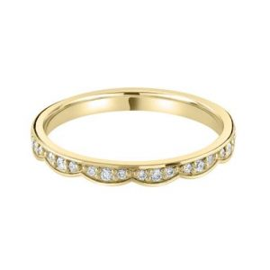 Diamond Grain Set Wedding Ring 0.14cts