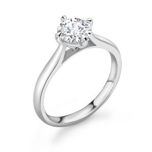 Classic Compass Set Engagement Ring 0.33cts