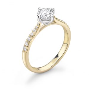 Bella Compass Set Diamond Engagement Ring 0.65cts