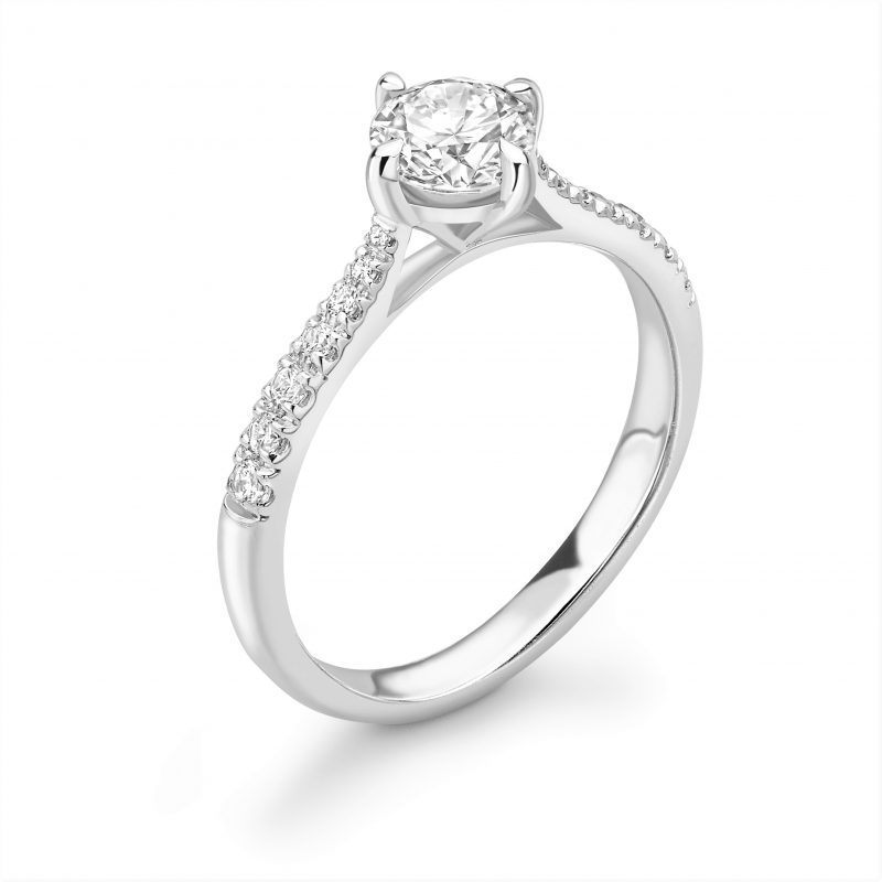 Bella Compass Set Diamond Engagement Ring 0.81cts