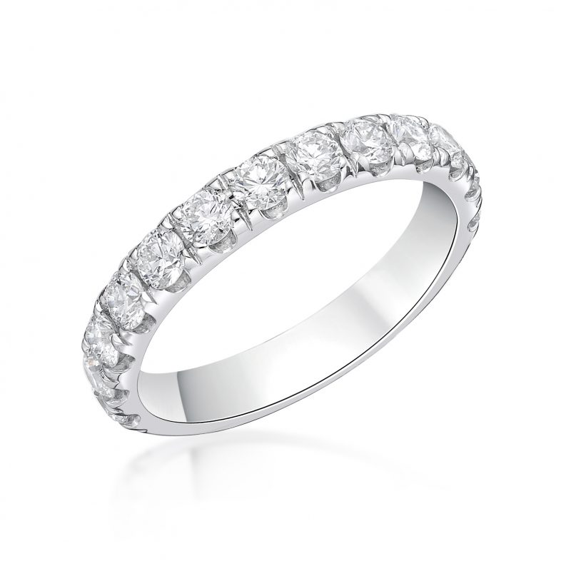 Platinum and Diamond Claw Set Ring 1.00cts