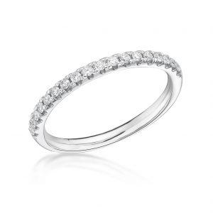 Platinum Claw Set Diamond Eternity Ring 0.20cts