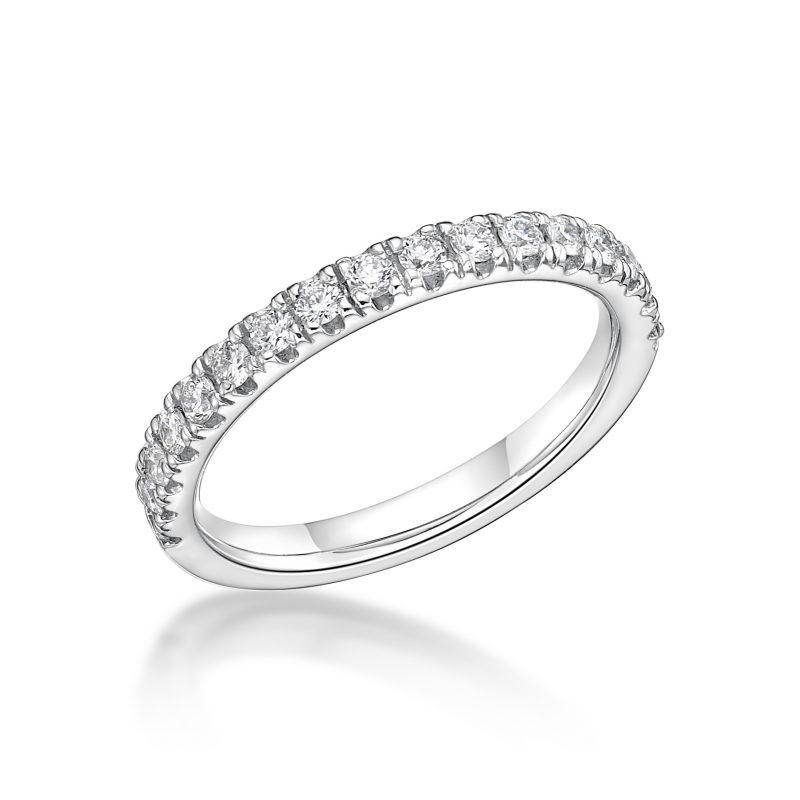 Platinum Claw Set Diamond Eternity Ring 0.45cts