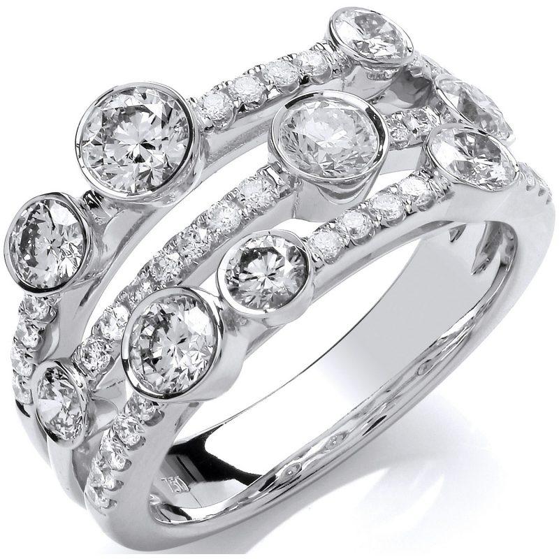 18ct White Gold Diamond Dress Ring 1.60cts