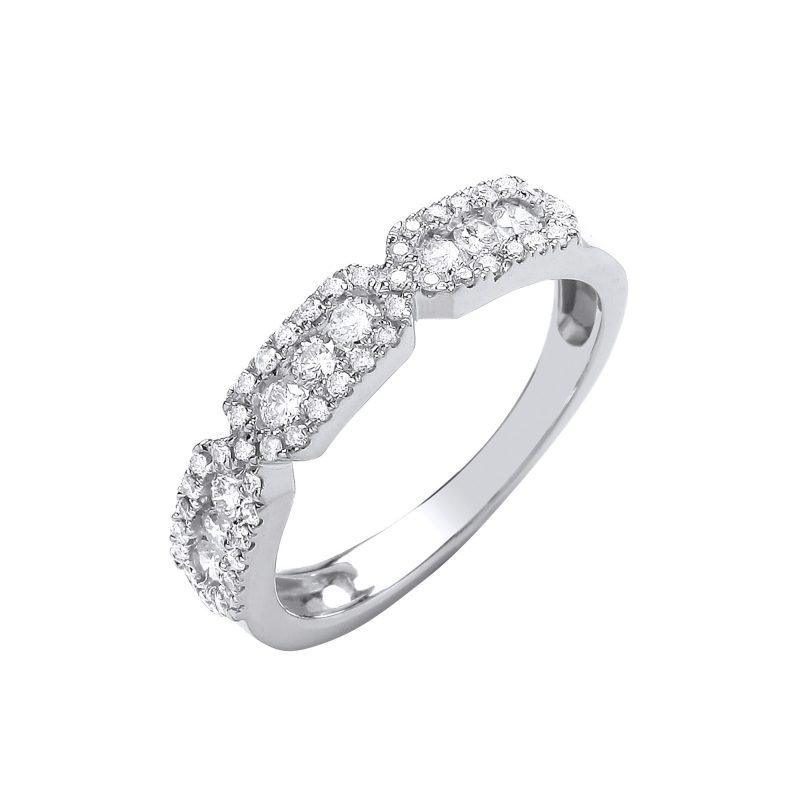 9ct White Gold Diamond Eternity Ring 0.50cts