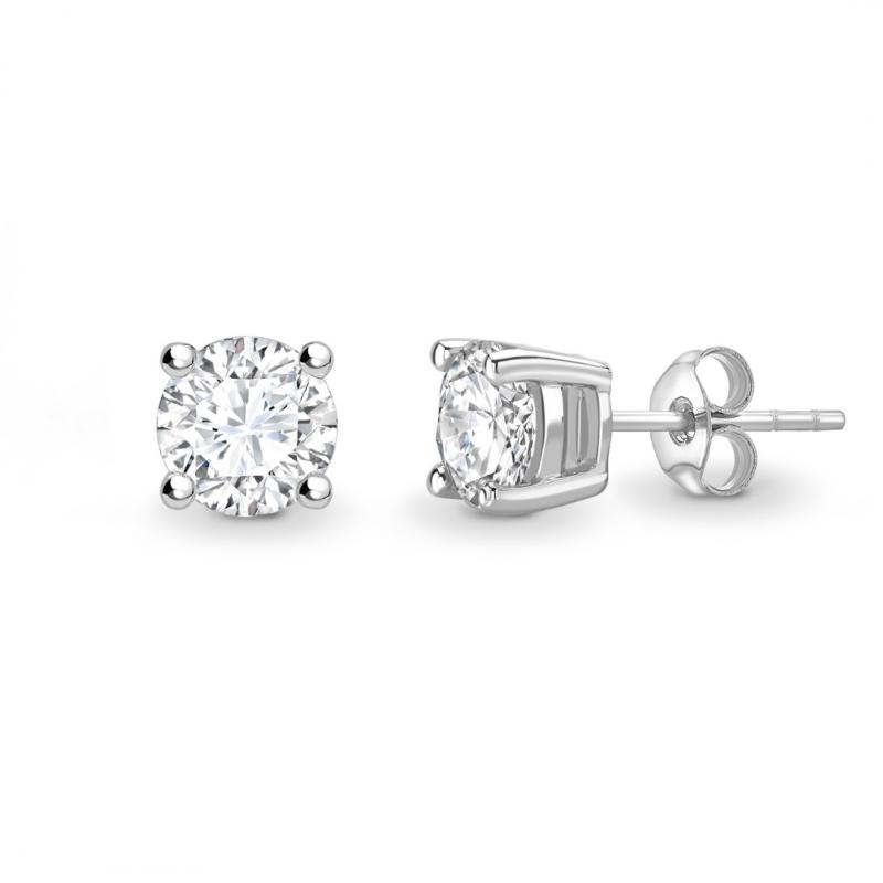 Brilliant Cut Diamond Stud Earrings 1.00cts
