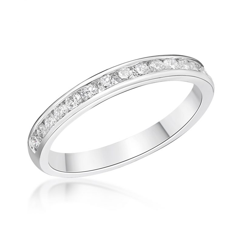 Platinum and Diamond Channel Set Ring 0.33cts