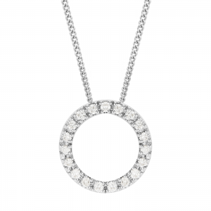 Diamond Circle Pendant 0.25cts