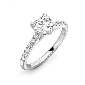 Heart Cut Diamond Solitaire Engagement Ring 0.66cts