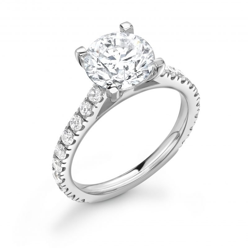Brilliant Cut Diamond Solitaire Engagement Ring 3.36cts