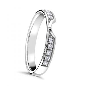 Brilliant Cut Diamond Ring with Cutaway Detail