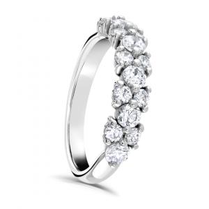 Brilliant Cut Diamond Claw Set Eternity Ring 0.50cts