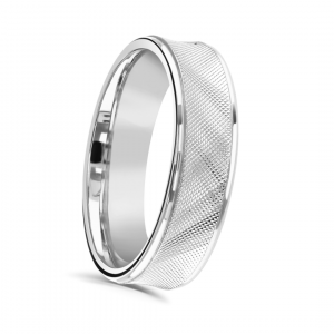 Gents 6mm Patterned Wedding Ring