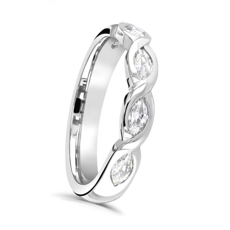 Marquise Cut Diamond Twist Ring 0.50cts
