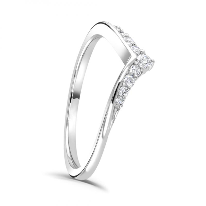 Diamond Wishbone Tiara Ring
