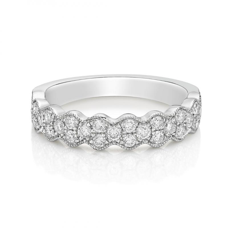 18ct White Gold Diamond Dress Ring 0.50cts